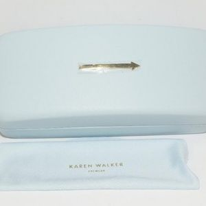 Karen Walker Light Gray Sunglasses Hard CASE